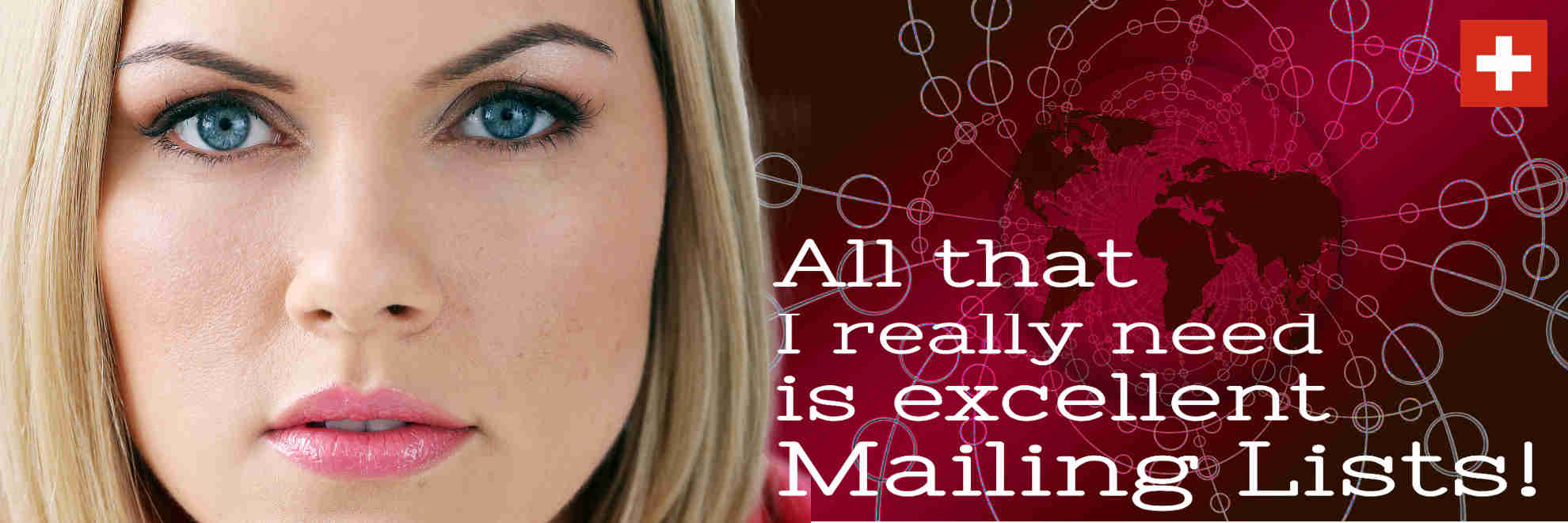 Mailing lists worldwide for direct mail, email and telephone marketing